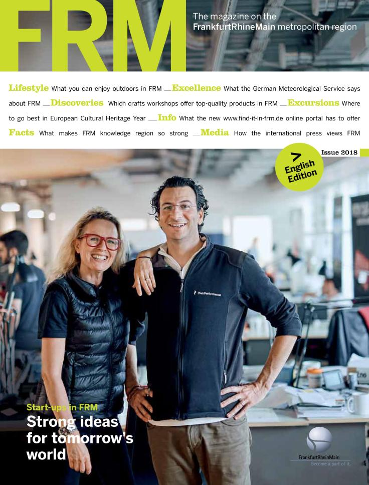 The magazine on the FrankfurtRhineMain metropolitan region